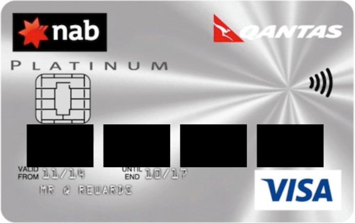 NAB Visa Card Example Redacted