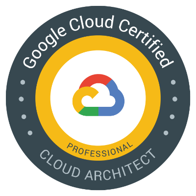 Google Cloud Certified Badge - Professional Solution Architect