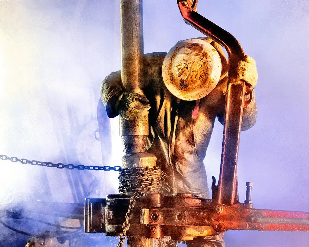 Industrial photography of roughneck