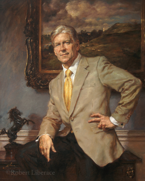 Robert Liberace, Mr. Aquilino, Portrait-in-oil