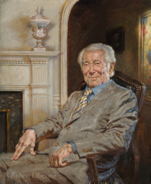 Robert Liberace, Mr. Srour, oil on board