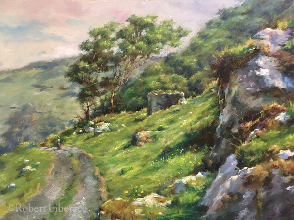 Robert Liberace, oil-on-panel, Murlough-Bay