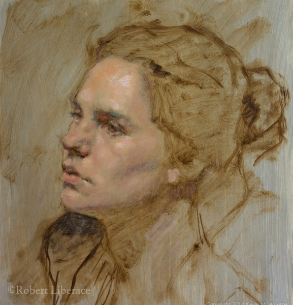 Robert Liberace, Demo-of-young-woman-in-oil