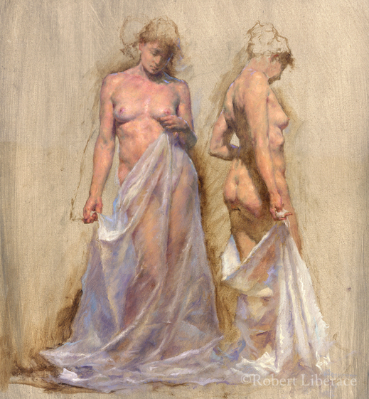 Robert Liberace Muses, oil on panel, 2009, 11x14