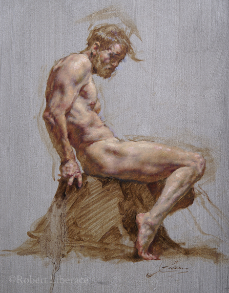 Robert Liberace oil painting figure male