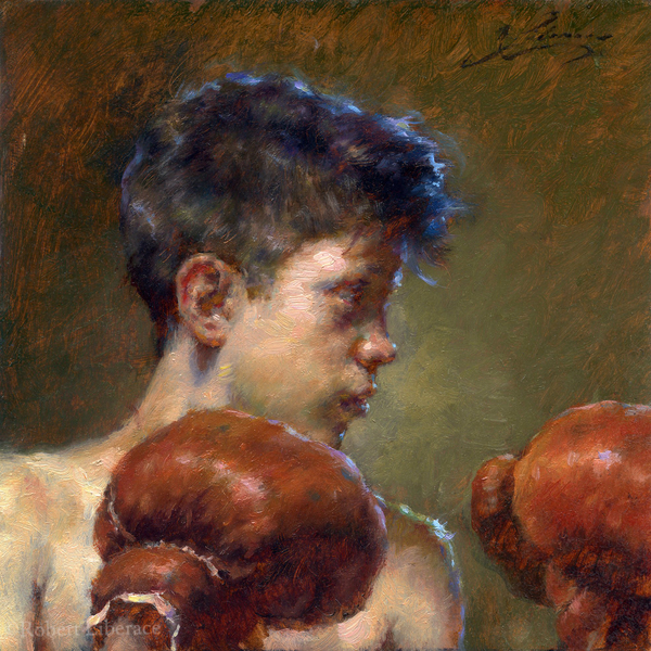Oil portrait on copper.