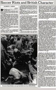 New York Times Soccer Violence