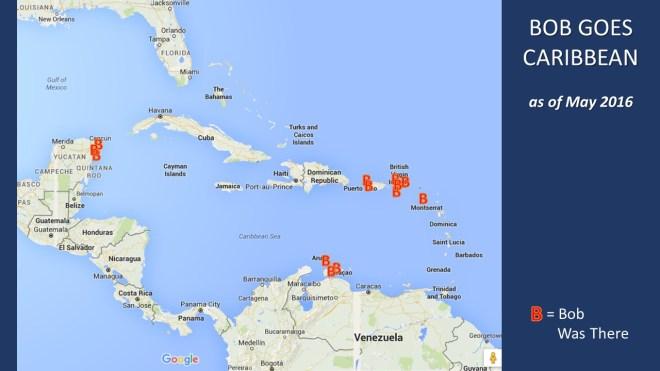 Bob Travel Map Caribbean 0516