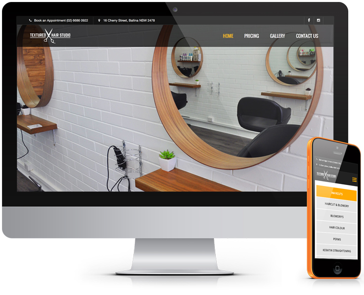 Textured Hair Studio - Ballina Website Design by Robert Mullineux