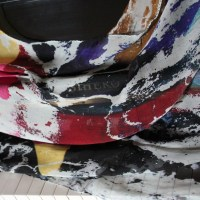 STREET ART and FASHION: HOW TO CREATE SILK TEXTILES FROM RIPPED ADS ON CITY WALLS