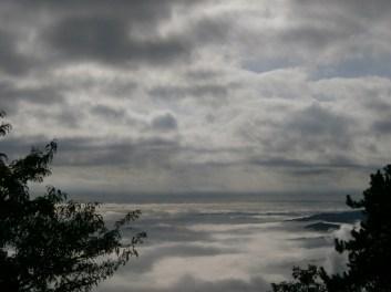 TUSCANY LANDSCAPE, MOUNT AMIATA, A SEA OF CLOUDS...