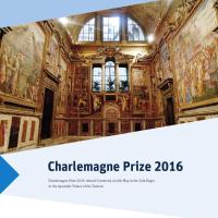 "MY PHOTO OF THE STUNNING ""SALA REGIA"" (VATICAN, ROME)  FEATURED IN THE OFFICIAL BROCHURE OF THE INTERNATIONAL CHARLEMAGNE PRIZE AWARDED BY POPE FRANCIS"