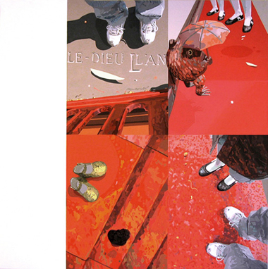 """Pop Metafísico pintura i-am-a-teur obra """"des-cendre-s"""""""