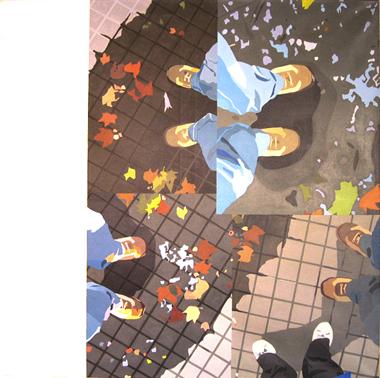 """Pop Metafísico pintura i-am-a-teur obra """"fall-in-g"""""""