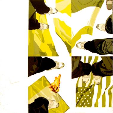 """Pop Metafísico pintura i-am-a-teur obra """"flag-elation"""""""