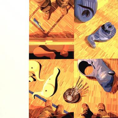 """Pop Metafísico pintura i-am-a-teur obra """"s-pieces"""""""