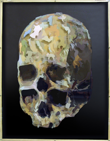 Pop Metafísico pintura plannage hommage-a-cezanne-II