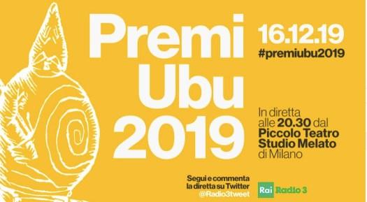 annuncio Premi Ubu 2019