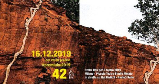 Locandina Premi Ubu 2019