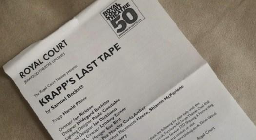 Royal Court Theatre - Krapp's Last Tape - 2006