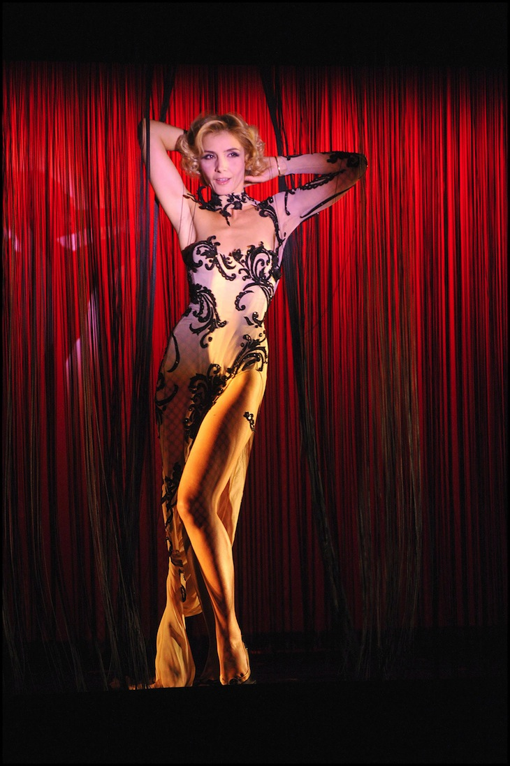 Roberto Cavalli for Clotilde Courau at the Crazy Horse in Paris