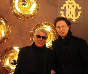 Roberto Cavalli with Luigi Monti