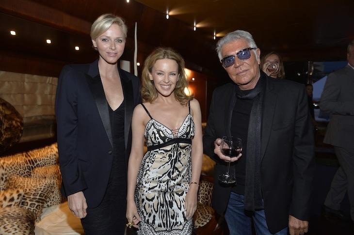 Charlene Wittstock Kylie Minogue Roberto Cavalli
