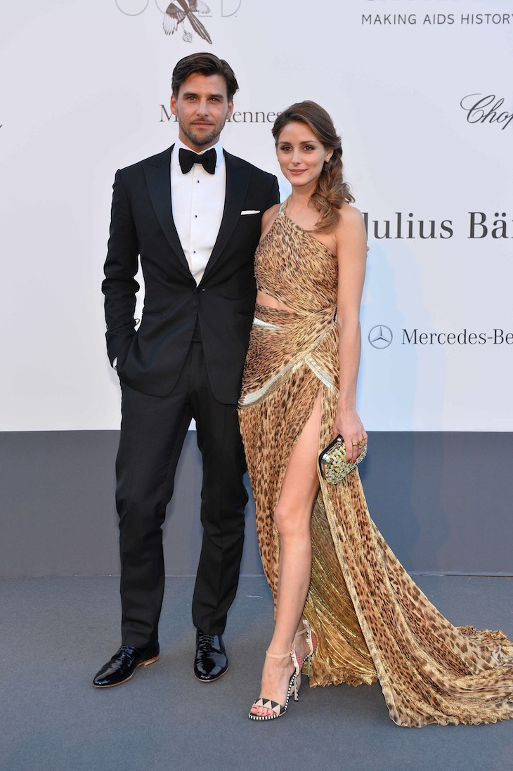 Olivia Palermo and Johannes Huebl in Roberto Cavalli