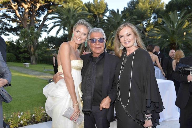 Roberto Cavalli, Eva Cavalli and Heidi Klum