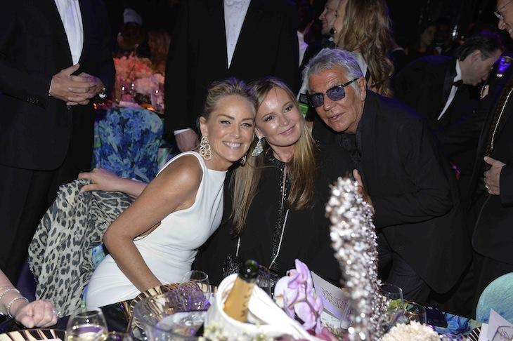 Sharon Stone, Roberto Cavalli and Eva Cavalli