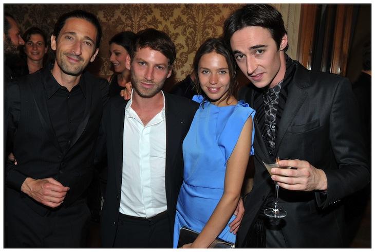 Daniele Cavalli, Adrien Brody in Roberto Cavalli, Ora-Ito and Emily Marant 2
