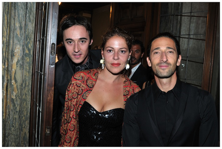 Daniele Cavalli with Adrien Brody in Roberto Cavalli and Lola Schnabel