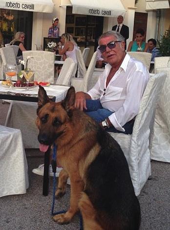 Roberto Cavalli with Lupo - Saint-Tropez
