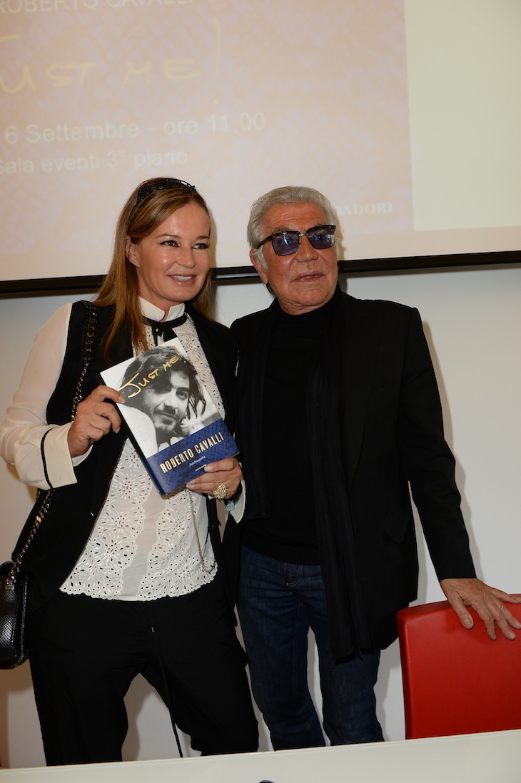 Eva and Roberto Cavalli@ the Just Me presentation