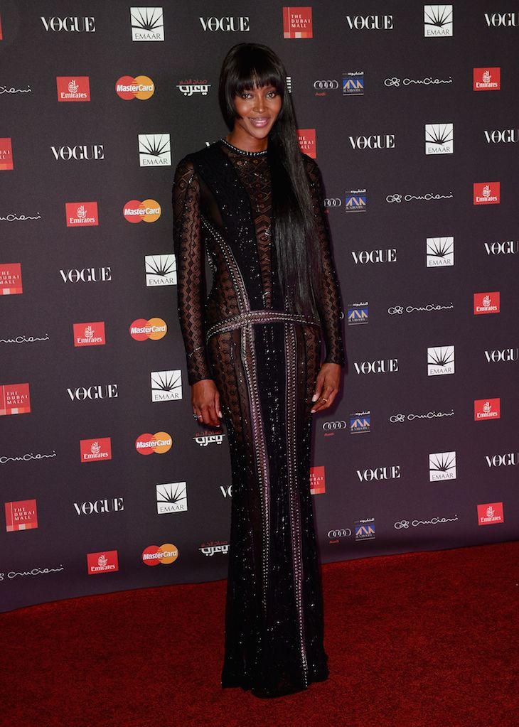 Naomi Campbell in Roberto-Cavalli @ Vogue Fashion Dubai Experience