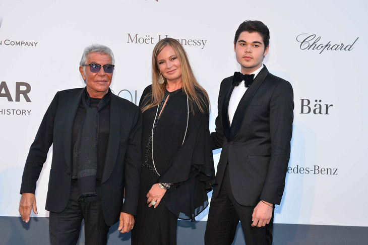 Roberto, Eva and Robert Cavalli