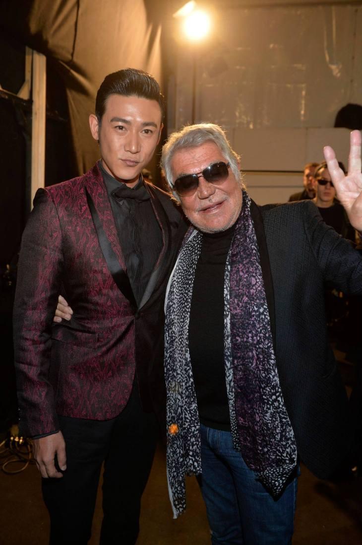 Roberto Cavalli with Lu Yi