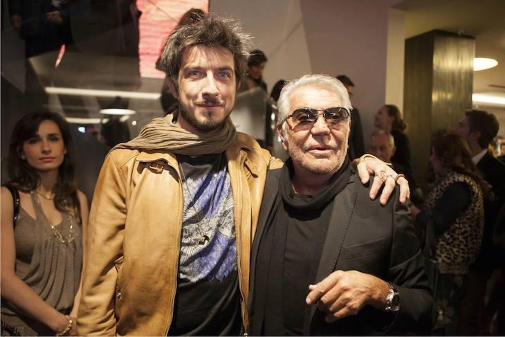 Roberto Cavalli with Paolo Ruffini