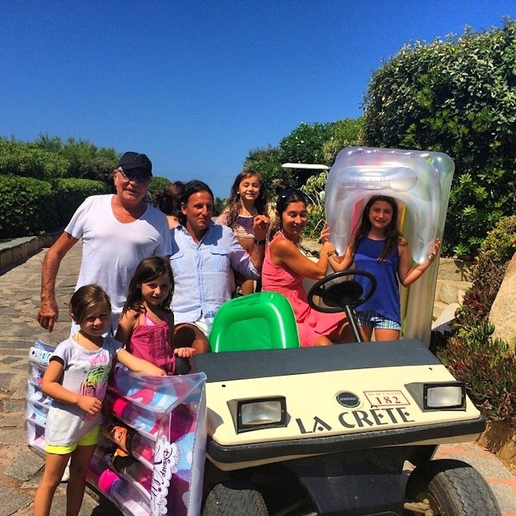 Roberto Cavalli with family
