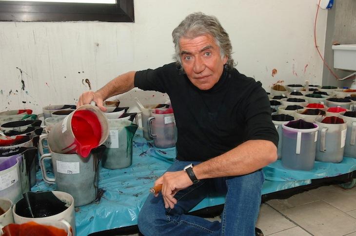 Roberto Cavalli in the Florence Headquarter