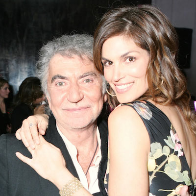 Roberto Cavalli with Cindy Crawford
