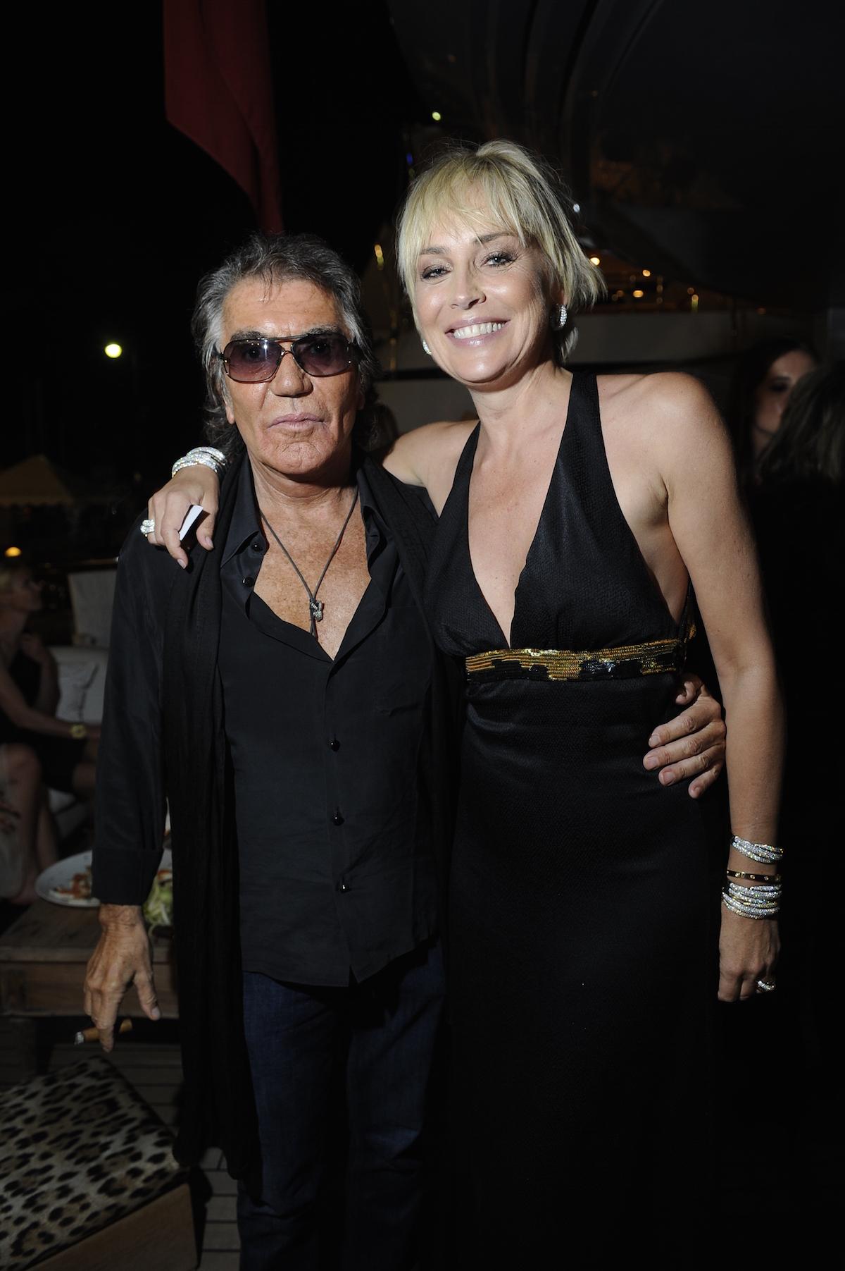Sharon Stone e Roberto Cavalli 3