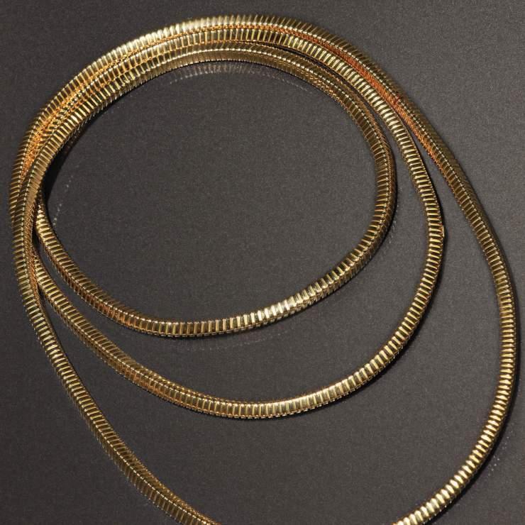Collana tubogas in oro giallo 18 carati firmata Weingril