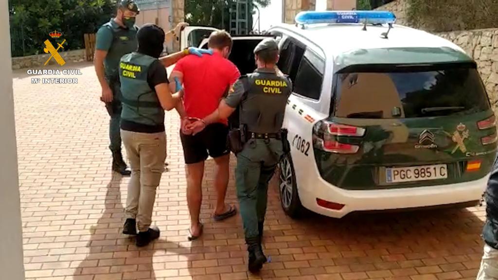 La Guardia Civil desmantela en la provincia una organización criminal dedicada a la distribución de marihuana por Europa