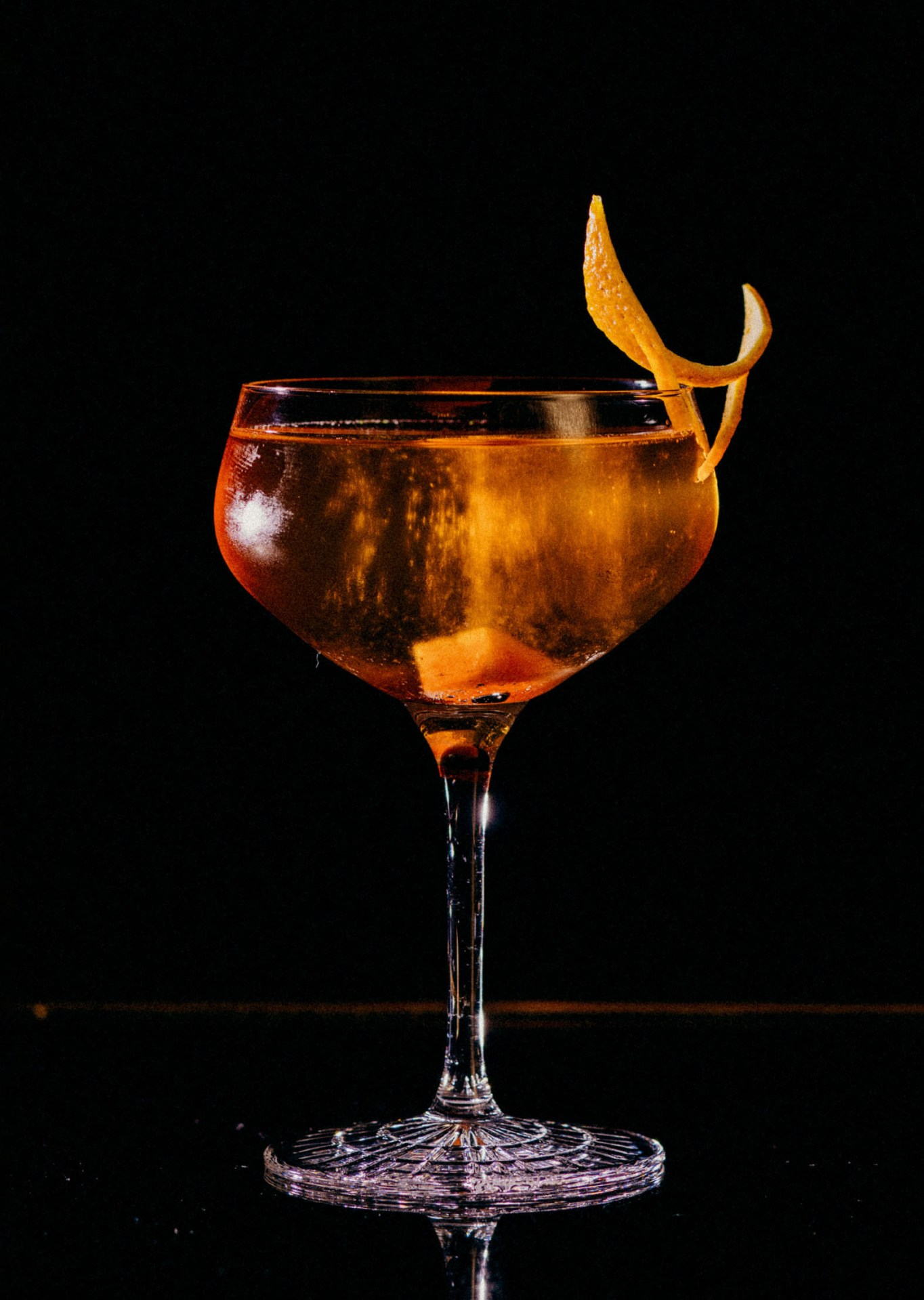 Recipe: 10cl Perrier-Jouët Brut 3cl Martell V.S.O.P Cognac 2cl Grand Marnier Cube of Sugar soaked with Angostura Bitters