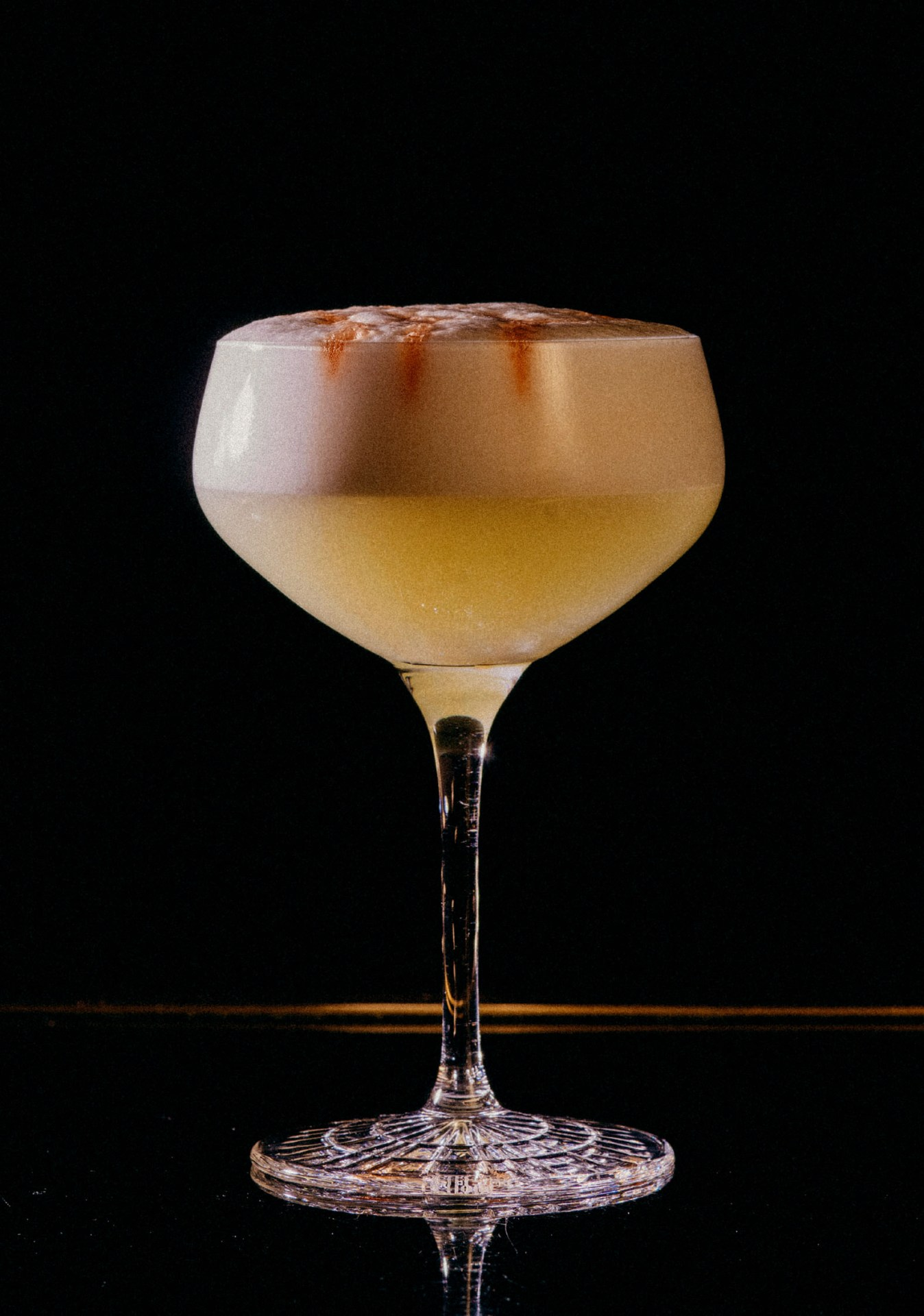 Recipe: 5cl Pisco 3cl Lime Juice 2cl Sugar Syrup Egg White