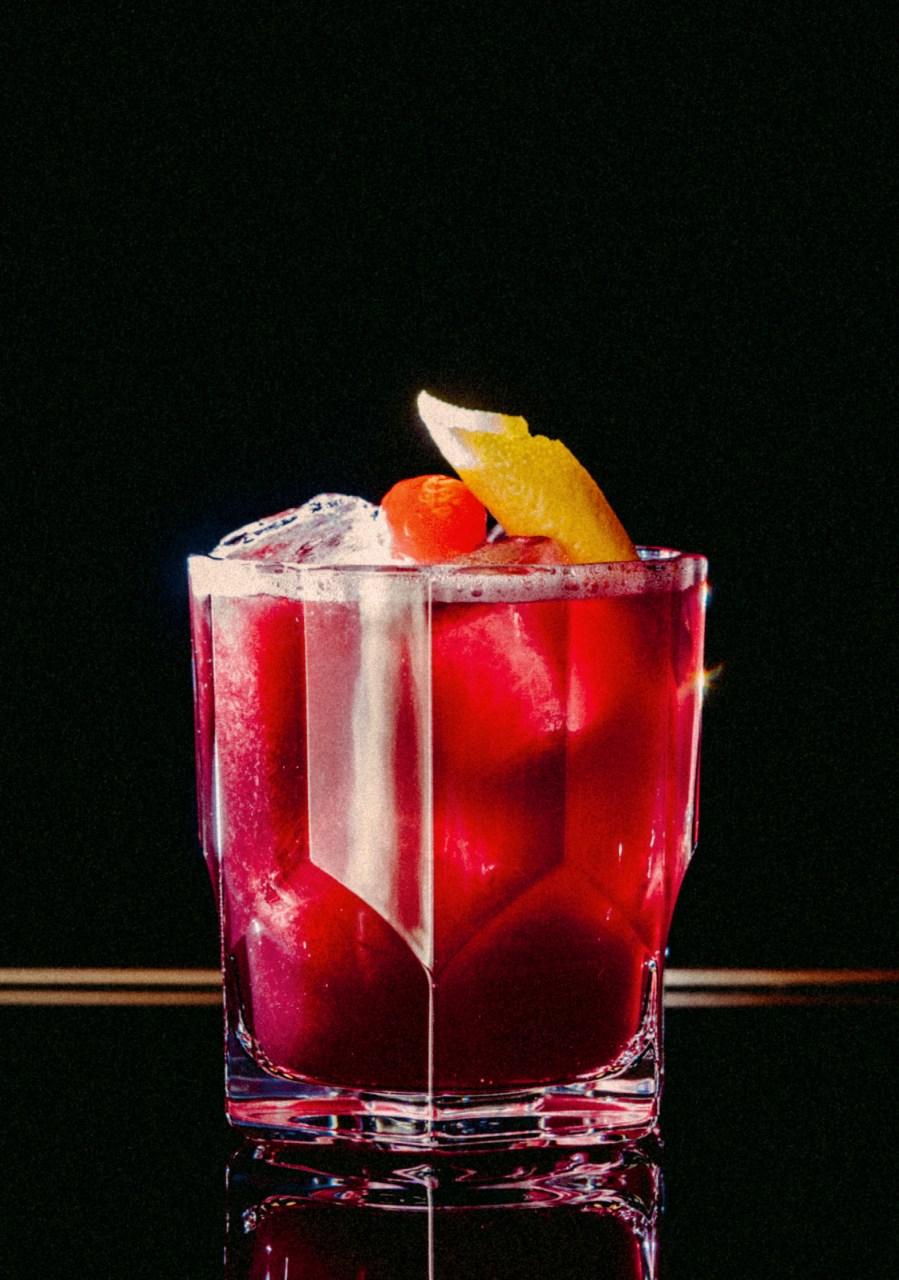 Recipe: 5cl Sandeman Fine Ruby Porto 3cl Lemon Juice 1cl Sugar Syrup 1cl Orange Juice
