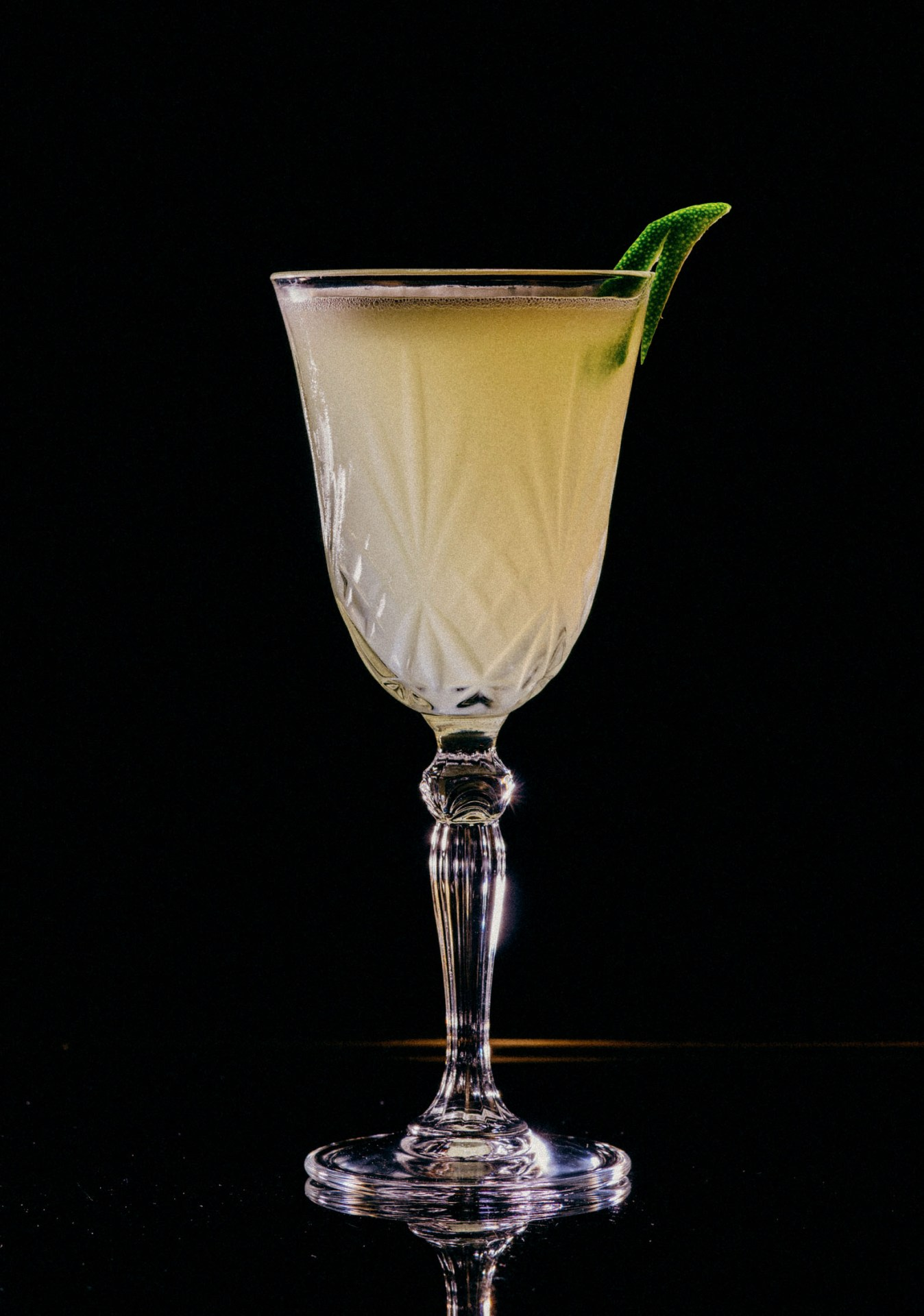 Recipe: 2cl Plymouth Gin 2cl Chatreuse 2cl Luxardo Maraschino 2cl Lime Juice