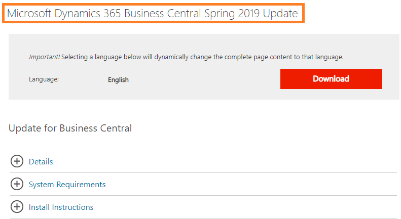 Business Central April'19 Release, best topics – Roberto