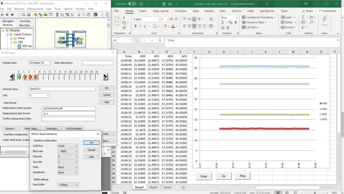 Live data and a Software Wedge can turn Excel into a Excel temperature measurement system